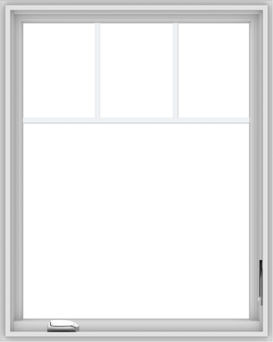 WDMA 32x40 (31.5 x 39.5 inch) White Vinyl UPVC Crank out Casement Window with Fractional Grilles