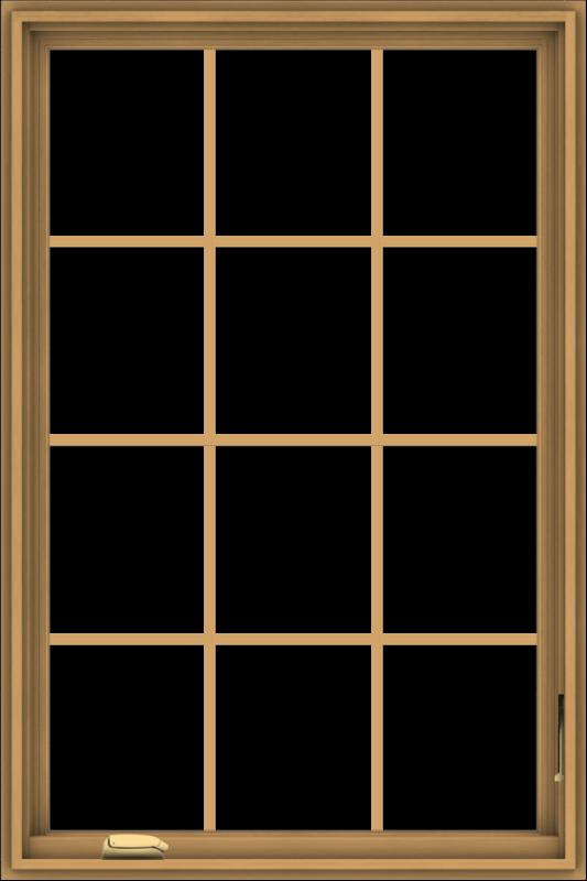 WDMA 32x48 (31.5 x 47.5 inch) Pine Wood Dark Grey Aluminum Crank out Casement Window without Grids