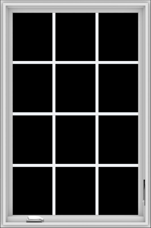 WDMA 32x48 (31.5 x 47.5 inch) White Vinyl UPVC Crank out Casement Window without Grids