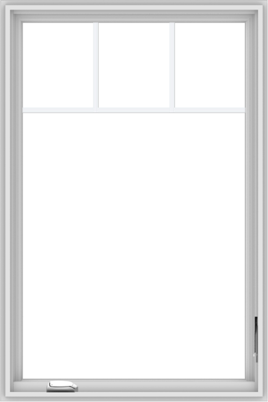 WDMA 32x48 (31.5 x 47.5 inch) White Vinyl UPVC Crank out Casement Window with Fractional Grilles
