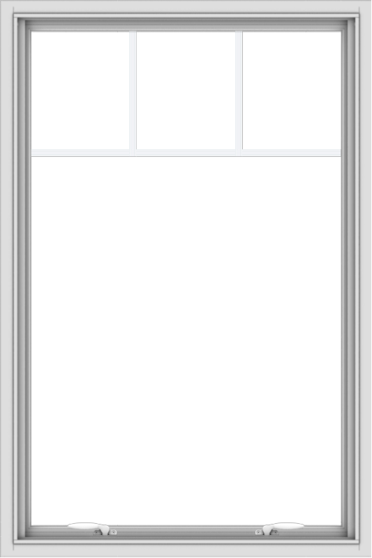 WDMA 32x48 (31.5 x 47.5 inch) White uPVC Vinyl Push out Awning Window with Fractional Grilles