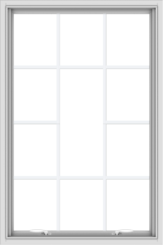 WDMA 32x48 (31.5 x 47.5 inch) White uPVC Vinyl Push out Awning Window without Grids with Victorian Grills