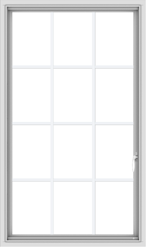 WDMA 32x54 (31.5 x 53.5 inch) White uPVC Vinyl Push out Casement Window without Grids