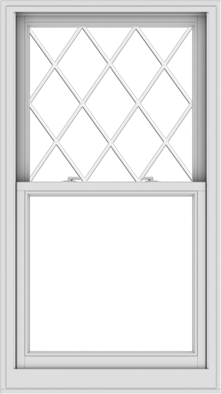 WDMA 32x57 (31.5 x 56.5 inch)  Aluminum Single Double Hung Window with Diamond Grids