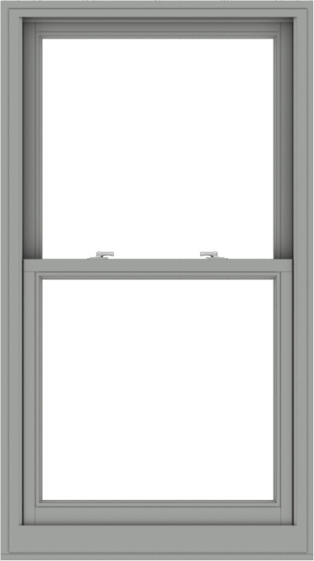 WDMA 32x57 (31.5 x 56.5 inch)  Aluminum Single Double Hung Window without Grids-1