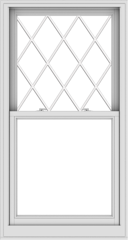 WDMA 32x60 (31.5 x 59.5 inch)  Aluminum Single Double Hung Window with Diamond Grids