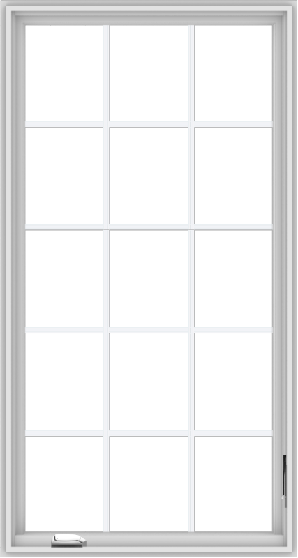 WDMA 32x60 (31.5 x 59.5 inch) White Vinyl UPVC Crank out Casement Window without Grids