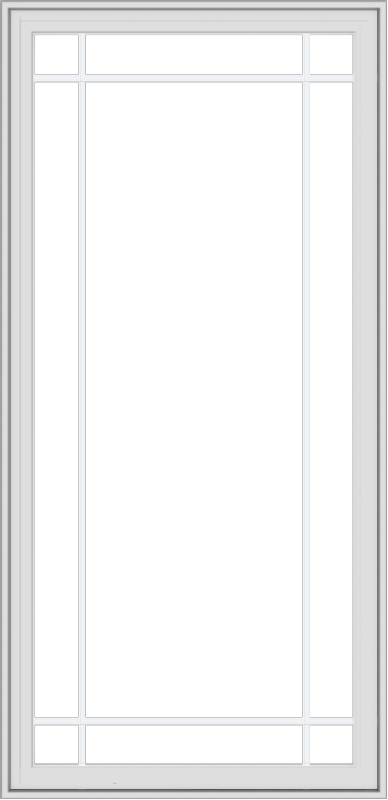 WDMA 32x66 (31.5 x 65.5 inch) White Vinyl UPVC Crank out Casement Window with Prairie Grilles