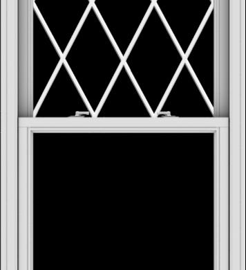 WDMA 32x72 (31.5 x 71.5 inch)  Aluminum Single Double Hung Window with Diamond Grids