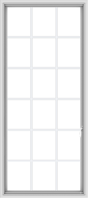 WDMA 32x72 (31.5 x 71.5 inch) White uPVC Vinyl Push out Casement Window without Grids