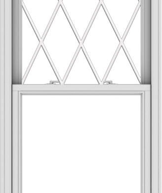 WDMA 32x78 (31.5 x 77.5 inch)  Aluminum Single Double Hung Window with Diamond Grids