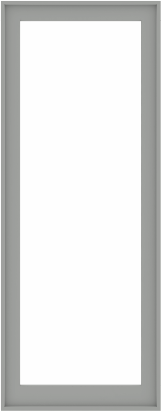 WDMA 32x80 (31.5 x 79.5 inch) Composite Wood Aluminum-Clad Picture Window without Grids-5