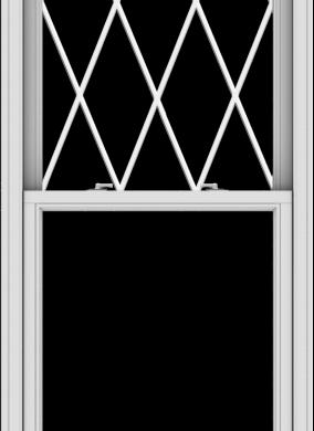 WDMA 32x90 (31.5 x 89.5 inch)  Aluminum Single Double Hung Window with Diamond Grids