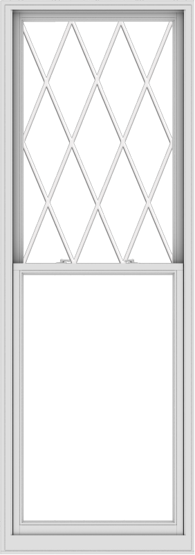 WDMA 36x102 (35.5 x 101.5 inch)  Aluminum Single Double Hung Window with Diamond Grids