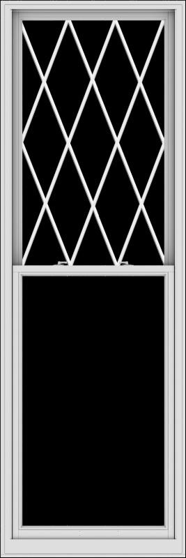 WDMA 36x108 (35.5 x 107.5 inch)  Aluminum Single Double Hung Window with Diamond Grids