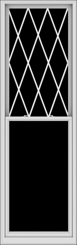WDMA 36x114 (35.5 x 113.5 inch)  Aluminum Single Double Hung Window with Diamond Grids