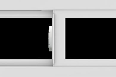 WDMA 36x12 (35.5 x 11.5 inch) Vinyl uPVC White Slide Window without Grids Interior