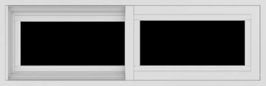 WDMA 36x12 (35.5 x 11.5 inch) Vinyl uPVC White Slide Window without Grids Exterior