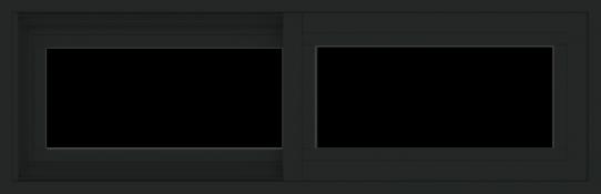 WDMA 36x12 (35.5 x 11.5 inch) Vinyl uPVC Black Slide Window without Grids Exterior