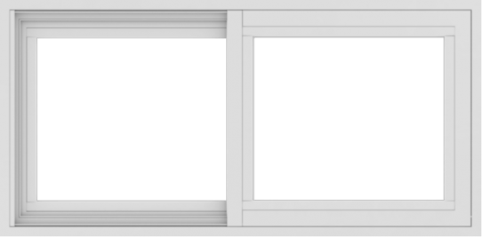 WDMA 36x18 (35.5 x 17.5 inch) Vinyl uPVC White Slide Window without Grids Exterior