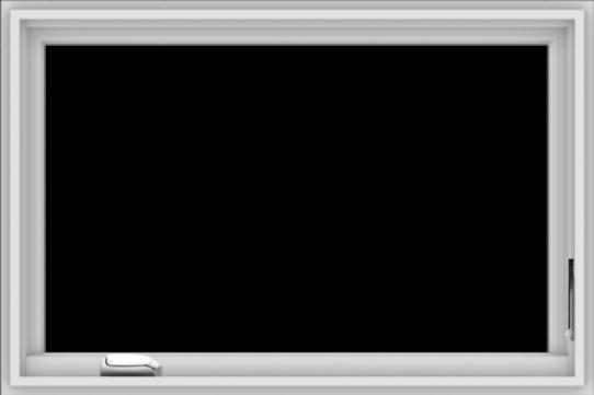 WDMA 36x24 (35.5 x 23.5 inch) White Vinyl UPVC Crank out Casement Window without Grids
