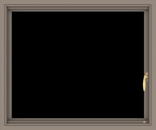 WDMA 36x30 (35.5 x 29.5 inch) Aluminum Frame Grey Brown Bronze Green Blue Push out Casement-1