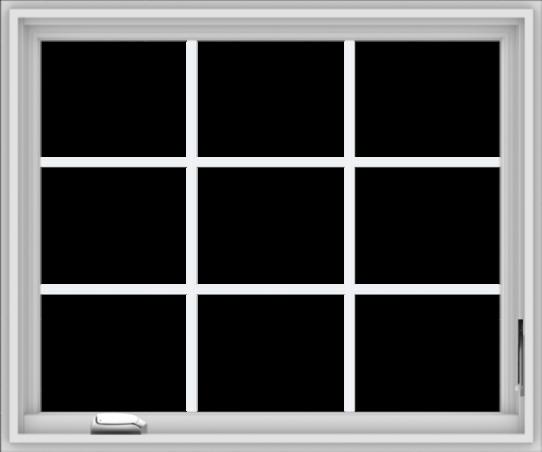 WDMA 36x30 (35.5 x 29.5 inch) White Vinyl UPVC Crank out Casement Window without Grids