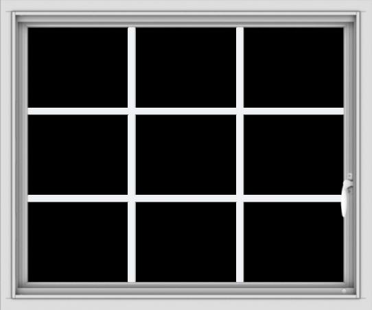 WDMA 36x30 (35.5 x 29.5 inch) White uPVC Vinyl Push out Casement Window without Grids