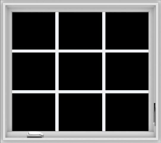 WDMA 36x32 (35.5 x 31.5 inch) White Vinyl UPVC Crank out Casement Window without Grids
