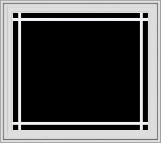 WDMA 36x32 (35.5 x 31.5 inch) White Vinyl UPVC Crank out Casement Window with Prairie Grilles