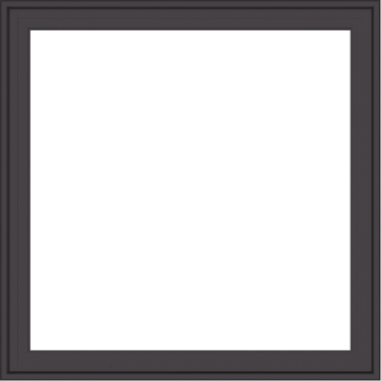 WDMA 36x36 (35.5 x 35.5 inch) Pine Wood Dark Grey Aluminum Crank out Casement Window with Colonial Grids Exterior
