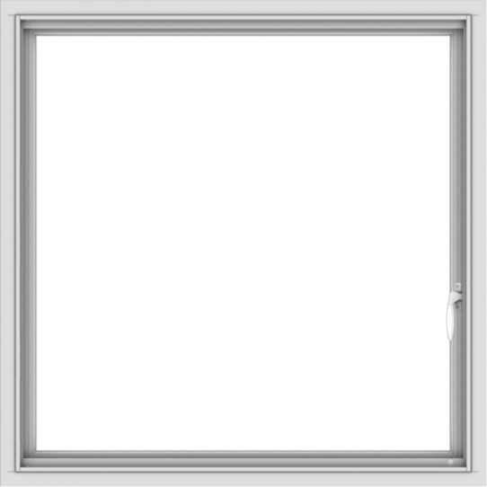 WDMA 36x36 (35.5 x 35.5 inch) White uPVC Vinyl Push out Casement Window with Colonial Grids Interior