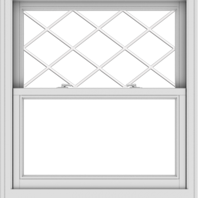 WDMA 36x40 (35.5 x 39.5 inch)  Aluminum Single Double Hung Window with Diamond Grids