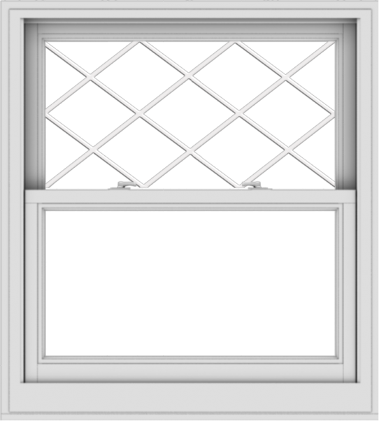 WDMA 36x40 (35.5 x 39.5 inch)  Aluminum Single Double Hung Window with Diamond Grids