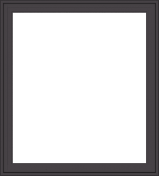 WDMA 36x40 (35.5 x 39.5 inch) Pine Wood Dark Grey Aluminum Crank out Casement Window with Colonial Grids Exterior