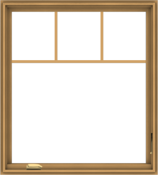 WDMA 36x40 (35.5 x 39.5 inch) Pine Wood Dark Grey Aluminum Crank out Casement Window with Fractional Grilles