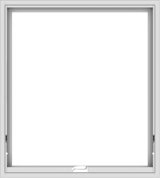 WDMA 36x40 (35.5 x 39.5 inch) White Vinyl uPVC Crank out Awning Window without Grids