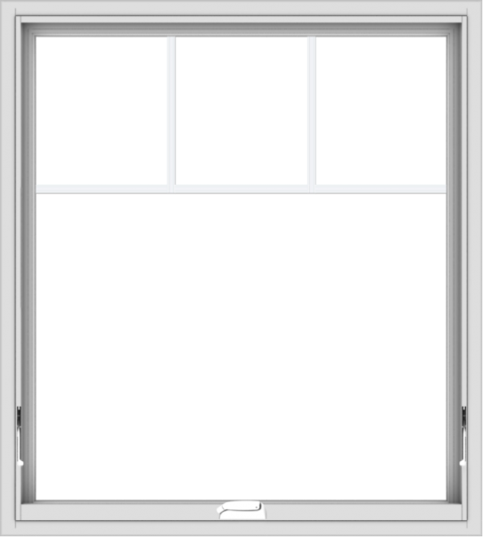 WDMA 36x40 (35.5 x 39.5 inch) White Vinyl uPVC Crank out Awning Window with Fractional Grilles