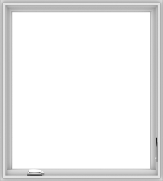 WDMA 36x40 (35.5 x 39.5 inch) White Vinyl UPVC Crank out Casement Window with Colonial Grids Interior