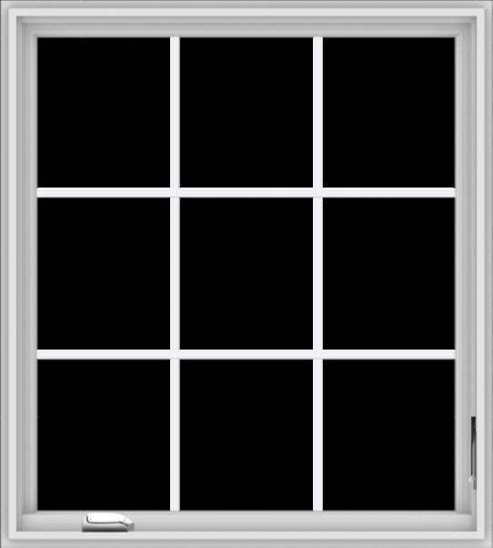 WDMA 36x40 (35.5 x 39.5 inch) White Vinyl UPVC Crank out Casement Window without Grids