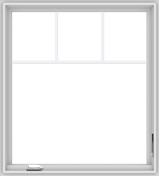 WDMA 36x40 (35.5 x 39.5 inch) White Vinyl UPVC Crank out Casement Window with Fractional Grilles