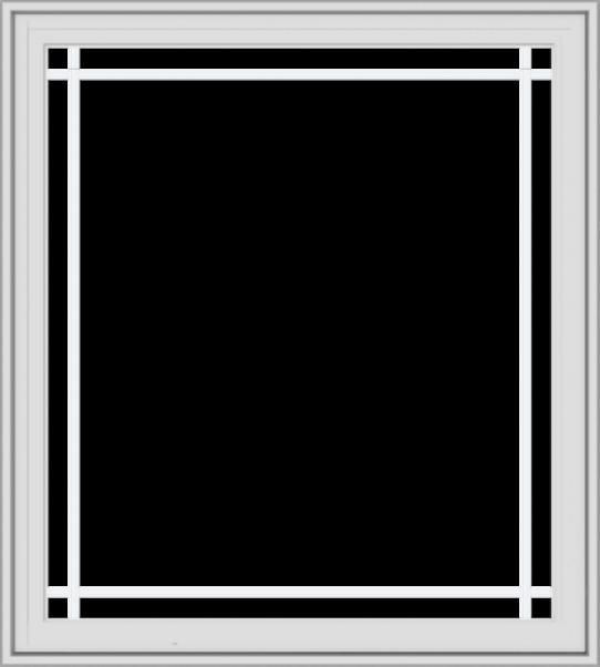 WDMA 36x40 (35.5 x 39.5 inch) White Vinyl UPVC Crank out Casement Window with Prairie Grilles