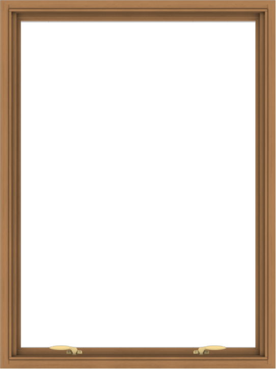 WDMA 36x48 (35.5 x 47.5 inch) Oak Wood Green Aluminum Push out Awning Window without Grids