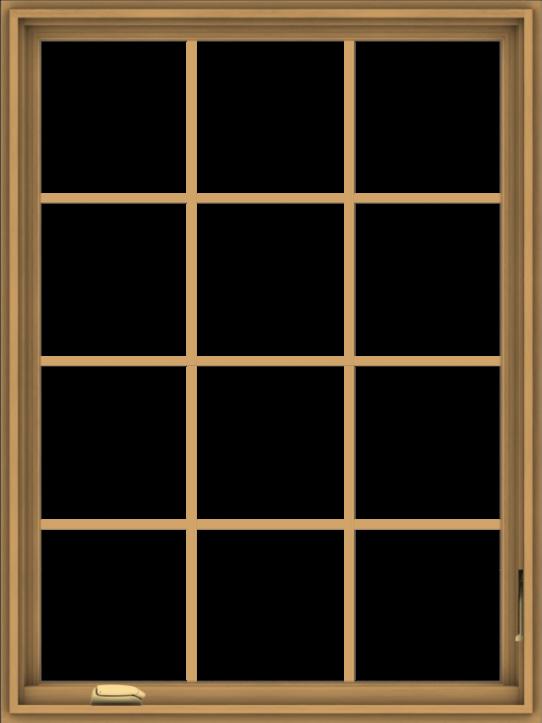 WDMA 36x48 (35.5 x 47.5 inch) Pine Wood Dark Grey Aluminum Crank out Casement Window without Grids