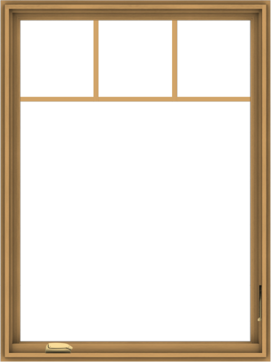 WDMA 36x48 (35.5 x 47.5 inch) Pine Wood Dark Grey Aluminum Crank out Casement Window with Fractional Grilles