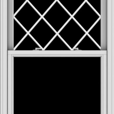 WDMA 36x54 (35.5 x 53.5 inch)  Aluminum Single Double Hung Window with Diamond Grids
