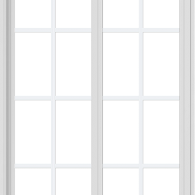 WDMA 36x54 (35.5 x 53.5 inch) Vinyl uPVC White Slide Window with Colonial Grids Exterior