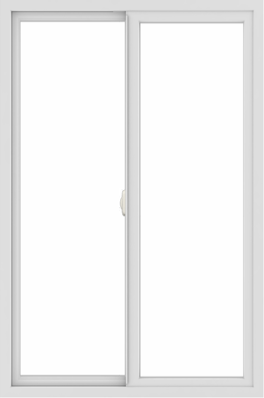 WDMA 36x54 (35.5 x 53.5 inch) Vinyl uPVC White Slide Window without Grids Interior