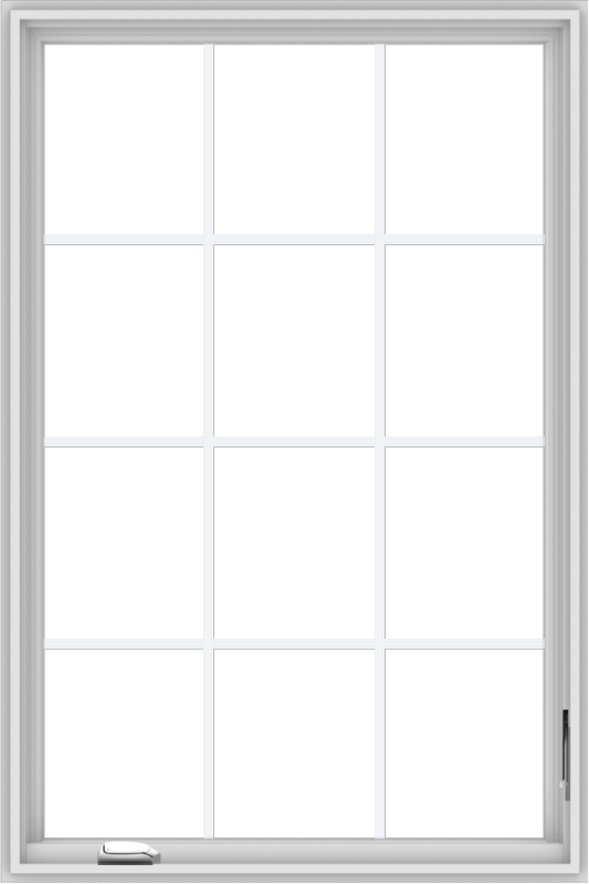 WDMA 36x54 (35.5 x 53.5 inch) White Vinyl UPVC Crank out Casement Window without Grids