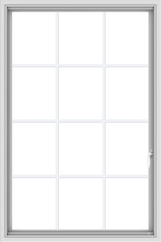 WDMA 36x54 (35.5 x 53.5 inch) White uPVC Vinyl Push out Casement Window without Grids